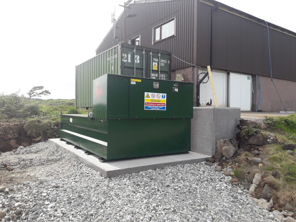 Above ground petrol storage tanks