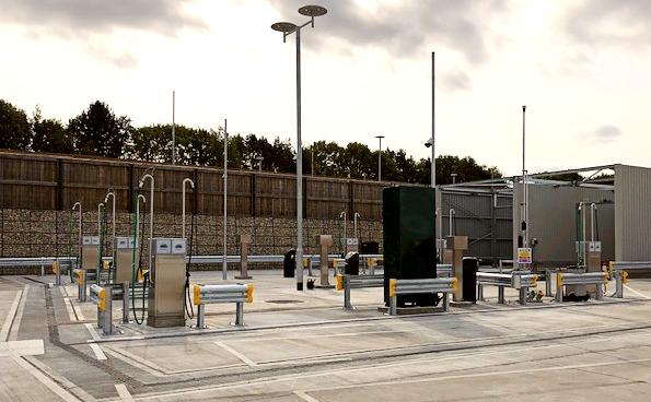 Fuel islands with underground fuel storage tanks