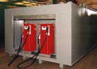 Fuel storage tank with two pump dispensers