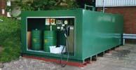 Fuel storage tank with fuel pump dispenser